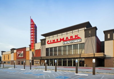 New construction of Cinemark Theater in Spring, Texas
